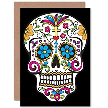 Wee blue coo decorative skull day of the dead greetings card wee blue coo decorative skull day of the dead greetings card m4hsunfo