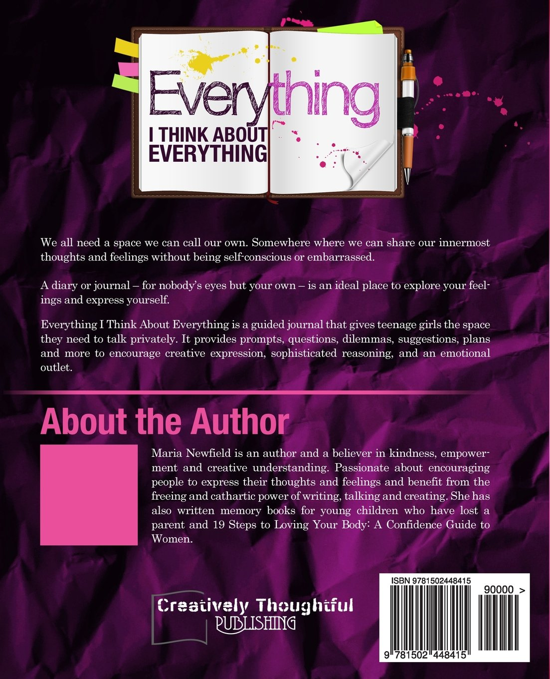 Everything I Think About Everything: Maria Newfield: 9781502448415:  Amazon.com: Books
