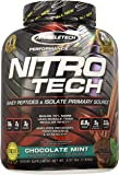 MuscleTech NitroTech Whey Protein Powder, Whey Isolate and Peptides, Chocolate Mint, 4 Pound