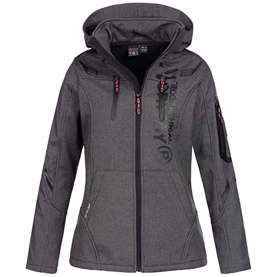Geographical Norway Damen Softshell Jacke Truffe mit Kapuze