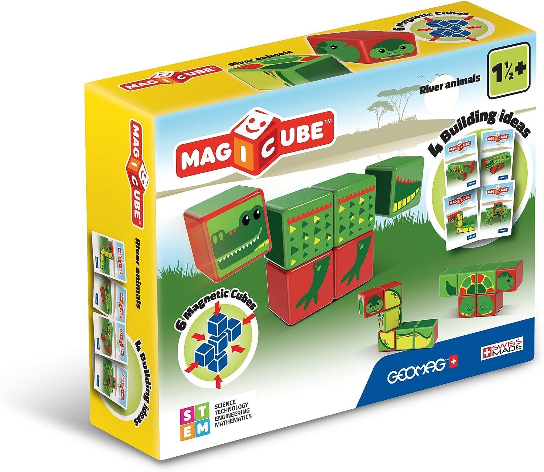 Geomag- Magicube Juguete de construcción, Multicolor, 6 Piezas (133) , color/modelo surtido: Amazon.es: Juguetes y juegos