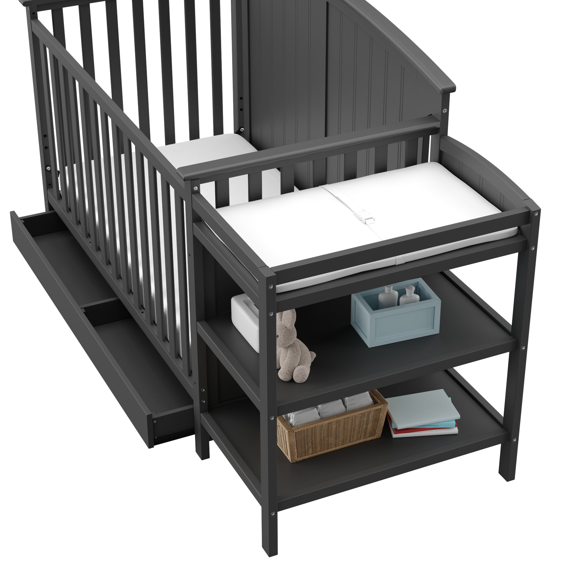 Storkcraft Steveston 4 In 1 Convertible Crib And Changer