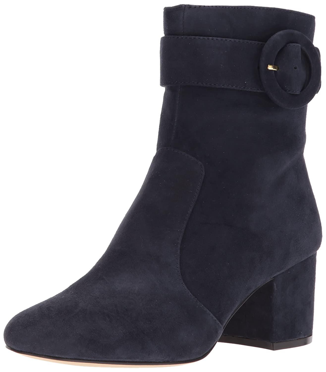 Nine West Women's Quilby Suede Ankle Boot B07143QKLF 8 B(M) US|Navy Suede