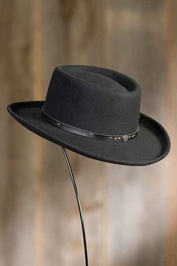 ab4027ab69e Overland Sheepskin Co Quincy Crushable Wool Waterproof Gambler Hat Overland  Sheepskin Co. 83750