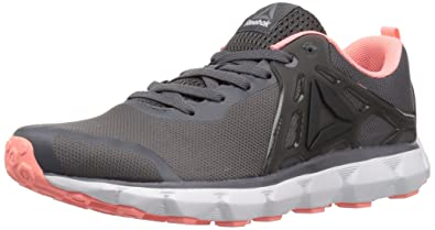 Reebok Women's Hexaffect Run 5.0 MTM Track Shoe, Ash Grey/Black/Sour Melon
