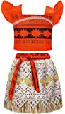 AmzBarley Moana Costume For Toddler Kids Party Princess Skirt Sets Little Girls Dress Up