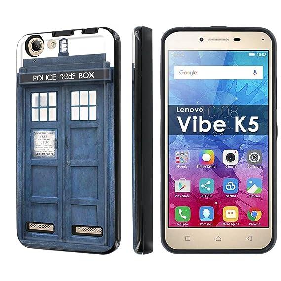 big sale 79b0e 87195 Amazon.com: Lenovo Vibe K5 Phone Case [NakedShield] [Black/Black ...