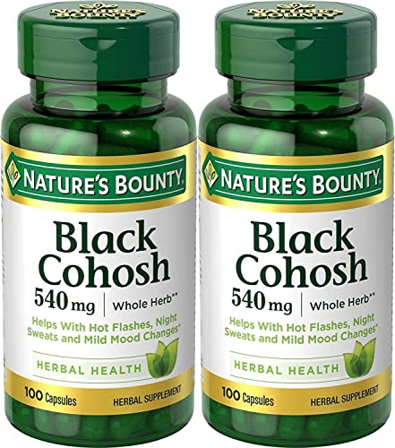 Nature's Bounty Natural Whole Herb Black Cohosh 540mg