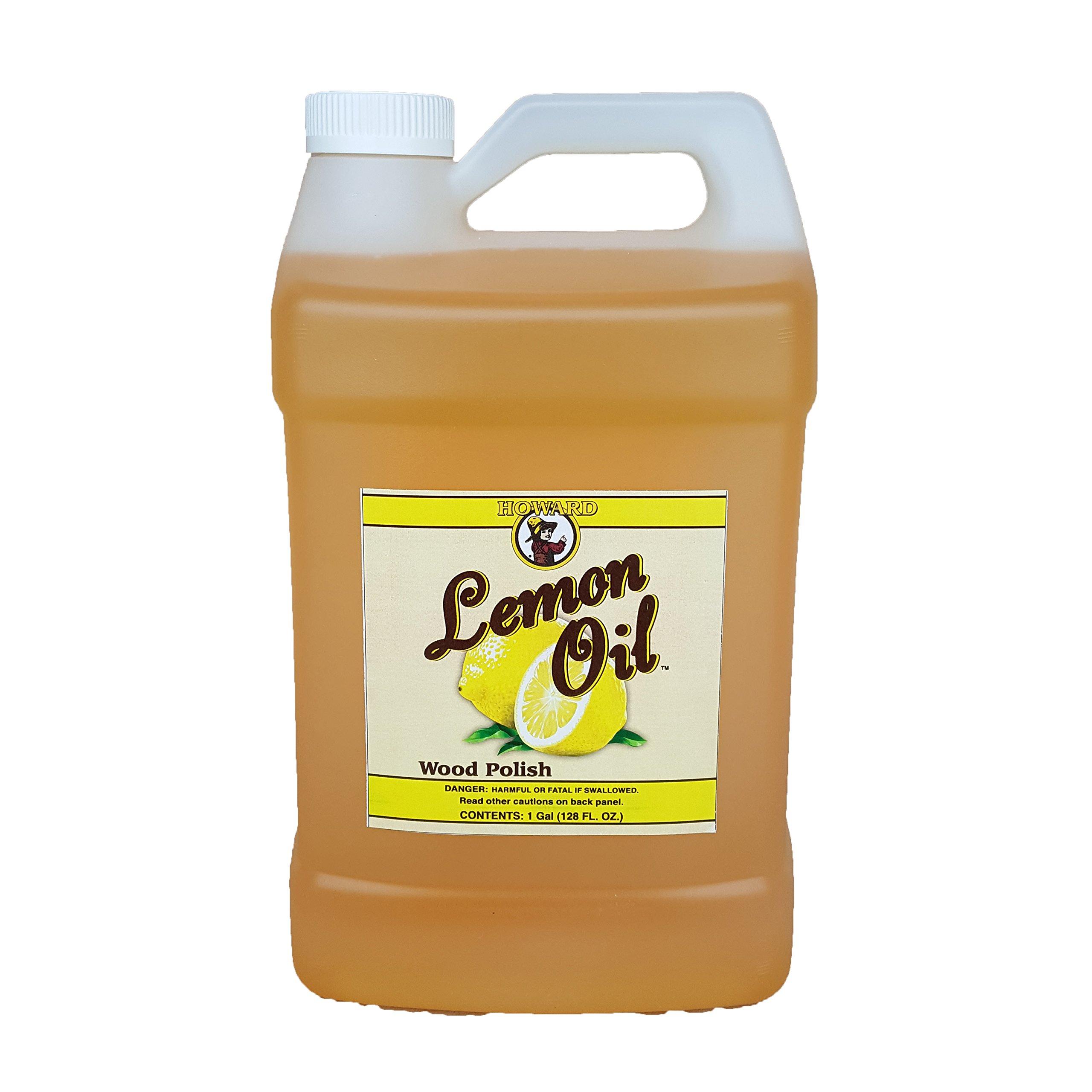 Howard Lemon Oil Wood Cleaner 128 oz Gallon, Clean Kitchen Cabinets, Clean Wood Floors, Lemon Wood Cleaner