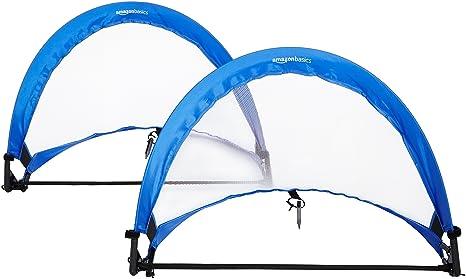aa8c29d75 AmazonBasics Pop-Up Soccer Goal Net Set with Carrying Case - 2.5 Feet, Blue