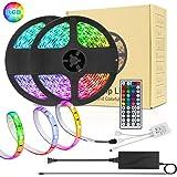 LED Strip Lights, TIK tok Lights Daufri LED Light Strip Color Changing Kit Waterproof SMD 5050 RGB 32.8Ft/10M 300 LEDs…