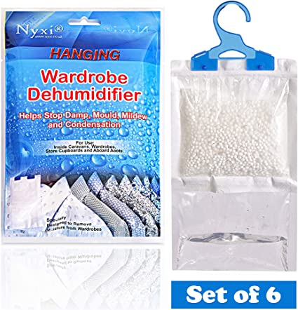48 x Disposable Scented Rose 500ML Dehumidifiers Moisture Damp Absorbers Mold