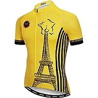 Weimostar - Camiseta de ciclismo para hombre (cremallera