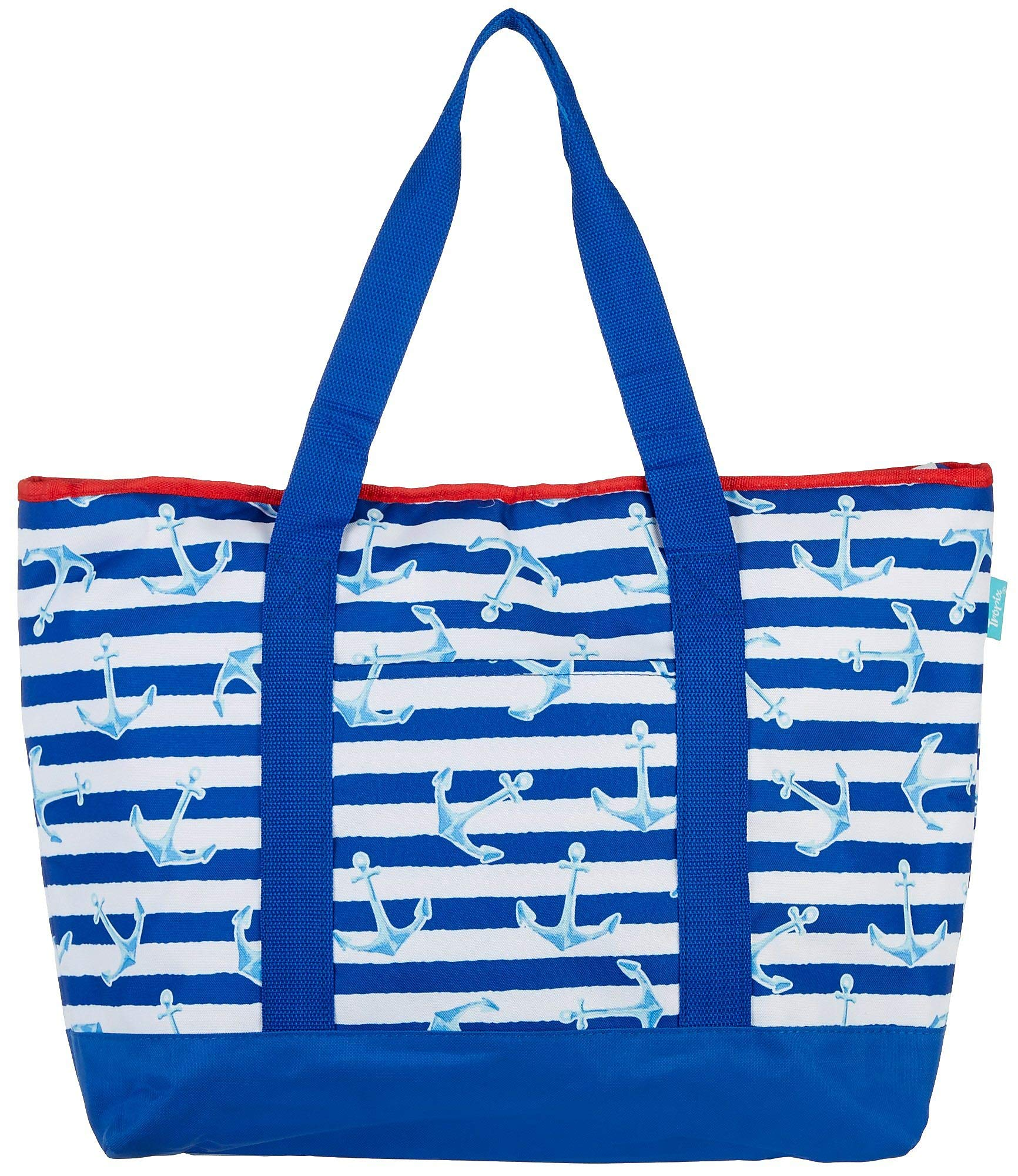 Tropix Anchor Stripe Cooler Tote One Size Blue/White/red