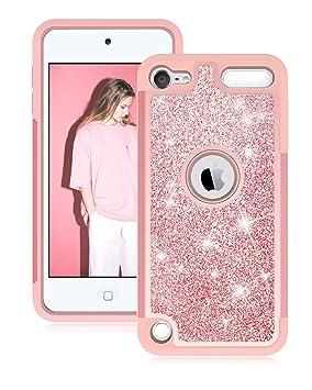 Dailylux iPod 5/6 Carcasa,iPod Touch 7 Funda,Glitter Bling niñas Mujeres de Doble Capa Resistente Impacto Caja del teléfono Protector para Apple iPod ...