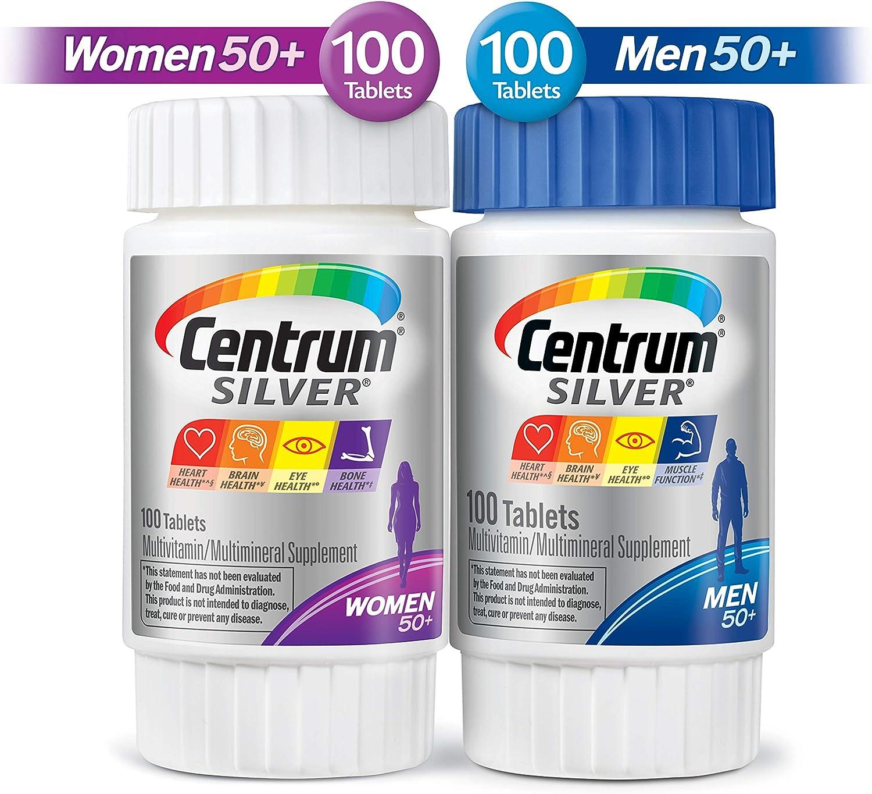 Centrum Silver Centrum Silver Men Women Multi-Pack Multivitamn, Age 50 200 Count in Total , Multi-Colored