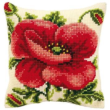 Amazon.com: Vervaco – Kit para cojín de Oriental Poppy Kit ...