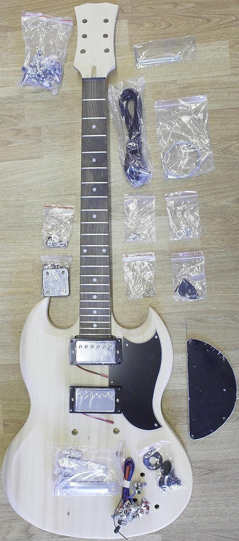 Guitarra eléctrica SG Style - Kit de bricolaje - Construye tu propia guitarra: Amazon.es: Instrumentos musicales