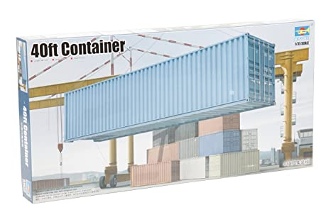 40ft Shipping Container >> Amazon Com 1 35 40ft Container Model Kit Kitchen Dining