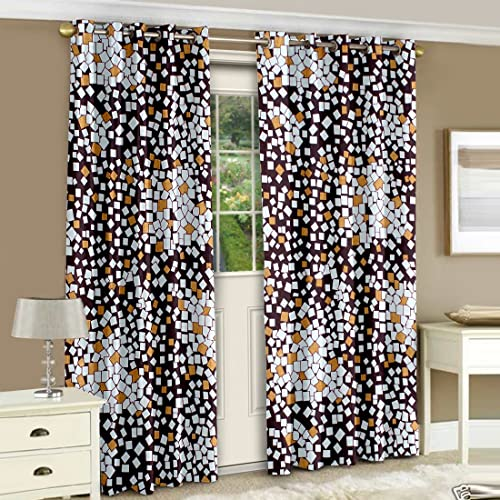Merveilleux Story@Home Nature Dots Eyelet 2 Pieces Basic Polyester Door Curtains Bedroom,  7 Ft
