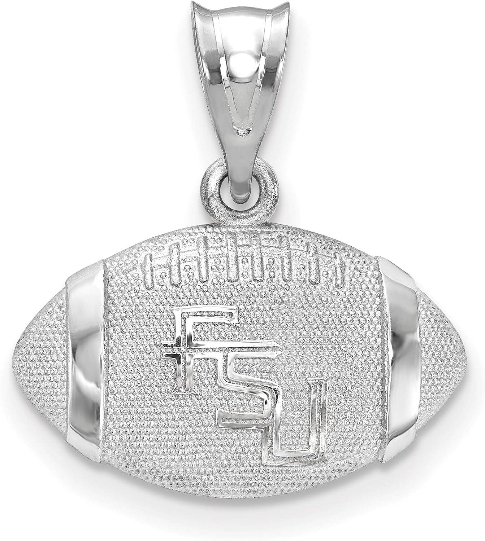 925 Sterling Silver Rhodium-plated Laser-cut Georgia Southern University Medium Pendant