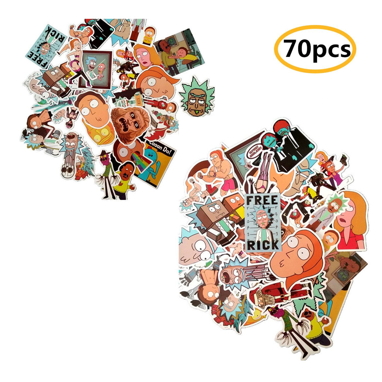 70pcs Waterproof Vinyl Stickers Decal for Laptop, Snowboard, Luggage, Car Fridge-Waterproof Random Sticker Pack