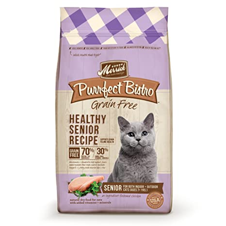Amazon merrick purrfect bistro grain free healthy senior dry merrick purrfect bistro grain free healthy senior dry cat food 7 lbs forumfinder Image collections