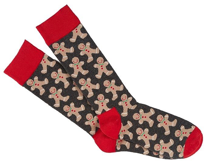 happy socks gingerbread men christmas socks combed cotton size 10 13 - Christmas Socks For Men