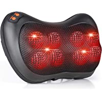 Almohada de masaje, masajeador eléctrico con 8 bolas de masaje y amasamiento térmico,…