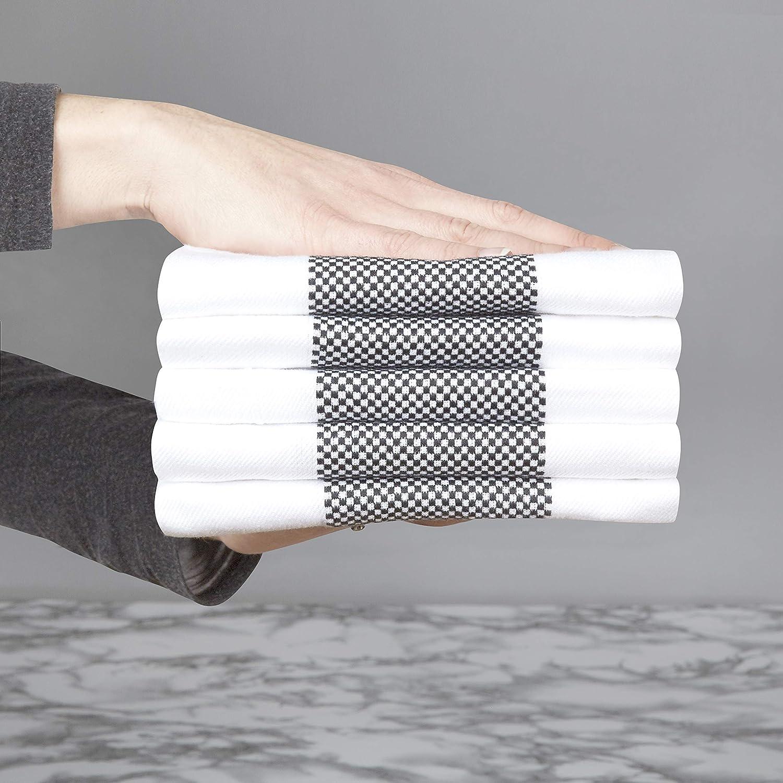 Bleu Taille 50 x 70 cm et 1 Gant de Silicone Simple pour Le Four 3 torchons en serg/é Sticky Toffee Ensemble de 4 pi/èces Chiffons de Cuisine en Verre absorbants du Bar du Restaurant