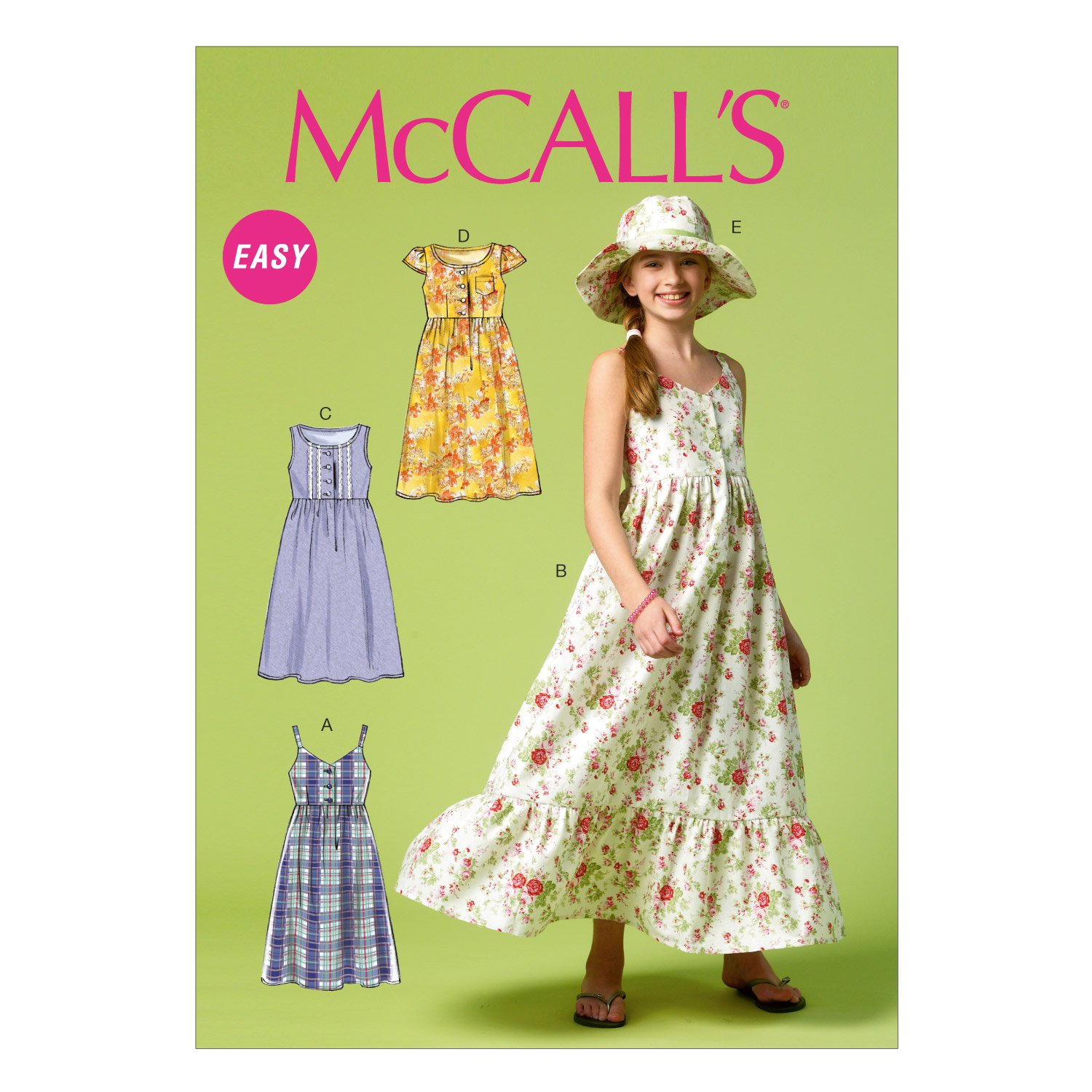 316268a82d84 Amazon.com: McCall Pattern Company M6919 Girls/Girls Plus Dresses and Hat,  Size PLS: Arts, Crafts & Sewing
