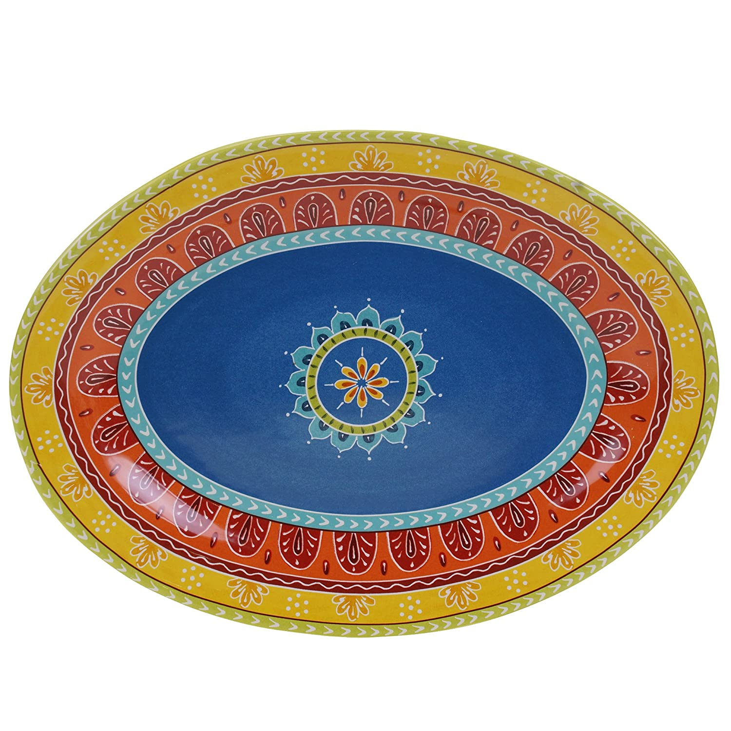 Certified International 14182 Valencia Oval Platter, 16 X 12, Multicolor 16 X 12