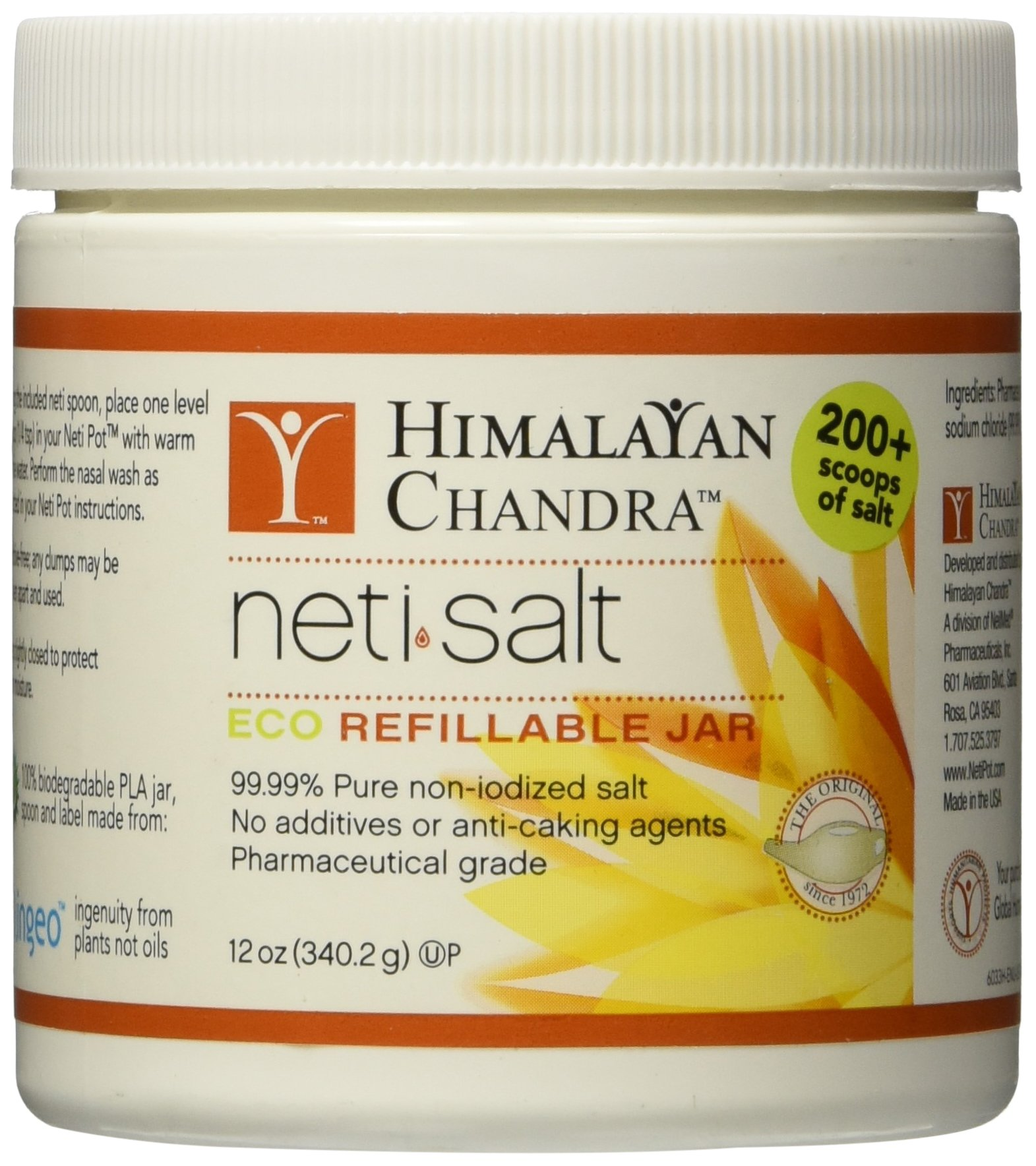 Himalayan Institute Neti Pot Salt Jar, 12 Ounce