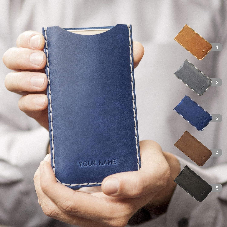 Funda De Cuero Para IPHONE Personalizada Caja Bolsa Nombre o Iniciales Grabadas, cualquier Tamaño Personalizado Disponible iphone XS Max XR X 8 7 plus 7s 6 6s + 5 5s 5c SE