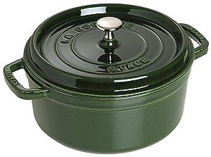 Staub Basil Round Cocotte, 7 qt., Basil Green