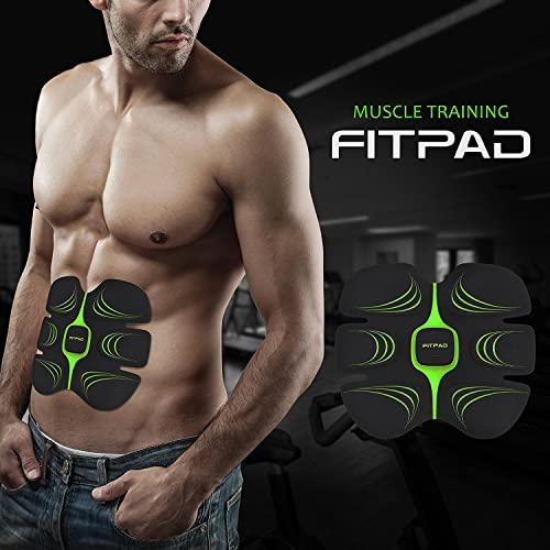 FITPAD Abs toner Abdominal Muscle Trainer Fitness Training EMS Exercise Unisex Abs Toner Weight Loss Belt Light Wearable Individuation Gym Workout Home Fitness Machine, Build Muscles of Abdomen, Support for Man and Woman
