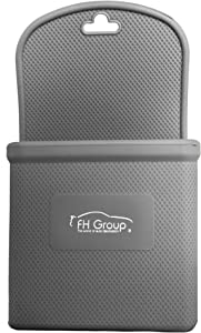 FH Group FH3022GRAY Gray Silicone Car Vent Mounted Phone Holder (Smartphone works with IPhone Plus Galaxy Note Gray Color)