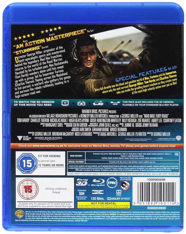 Mad Max - Fury Road 2 Blu-Ray Edizione: Regno Unito Reino Unido ...