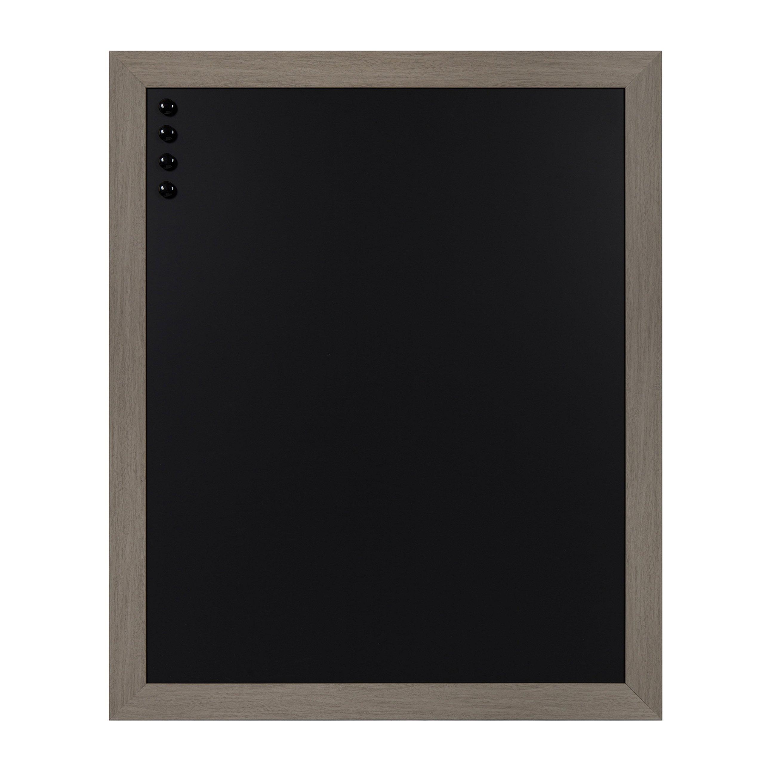 DesignOvation Beatrice Large Framed Magnetic Chalkboard, 27x33, Gray by DesignOvation