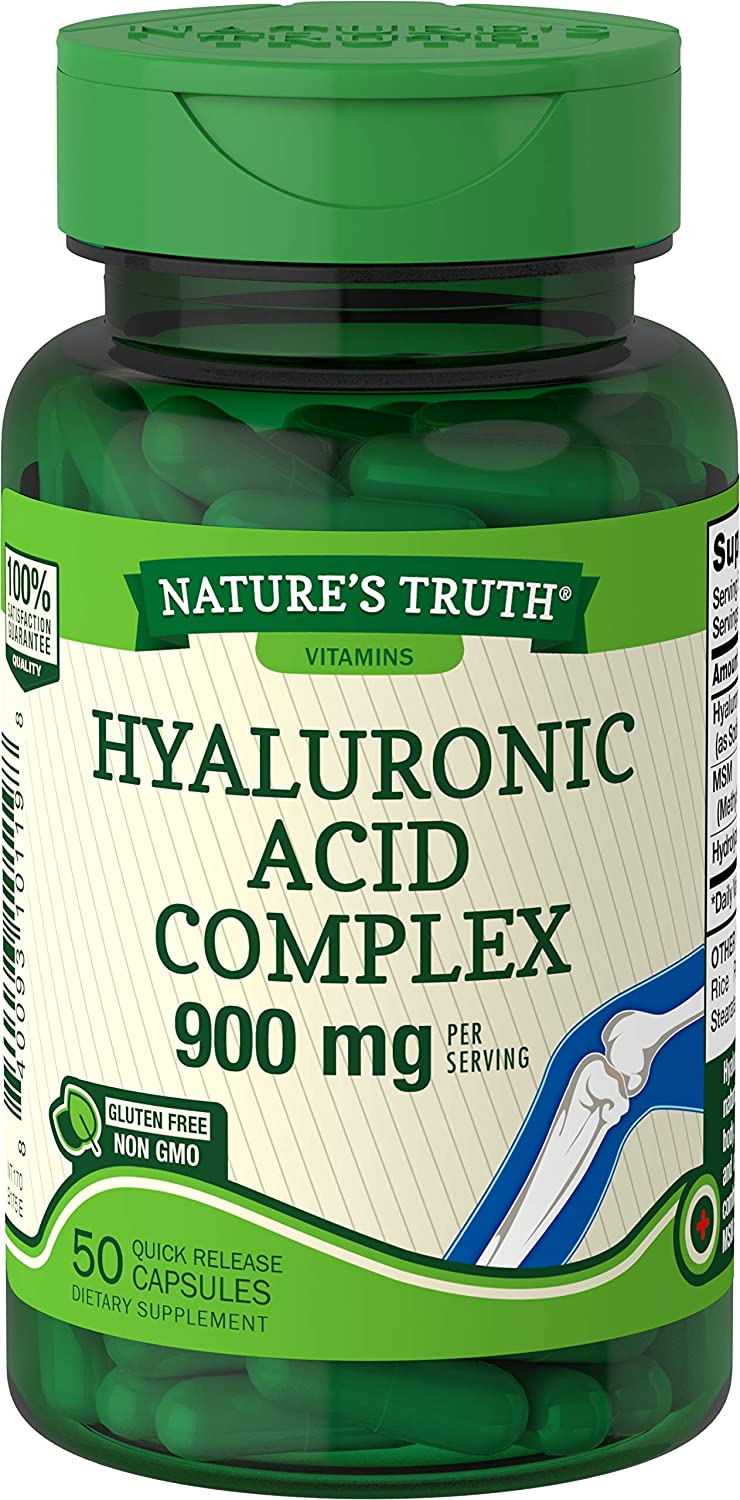 Nature's Truth Hyaluronic Acid 100 mg Capsules, 50 Count