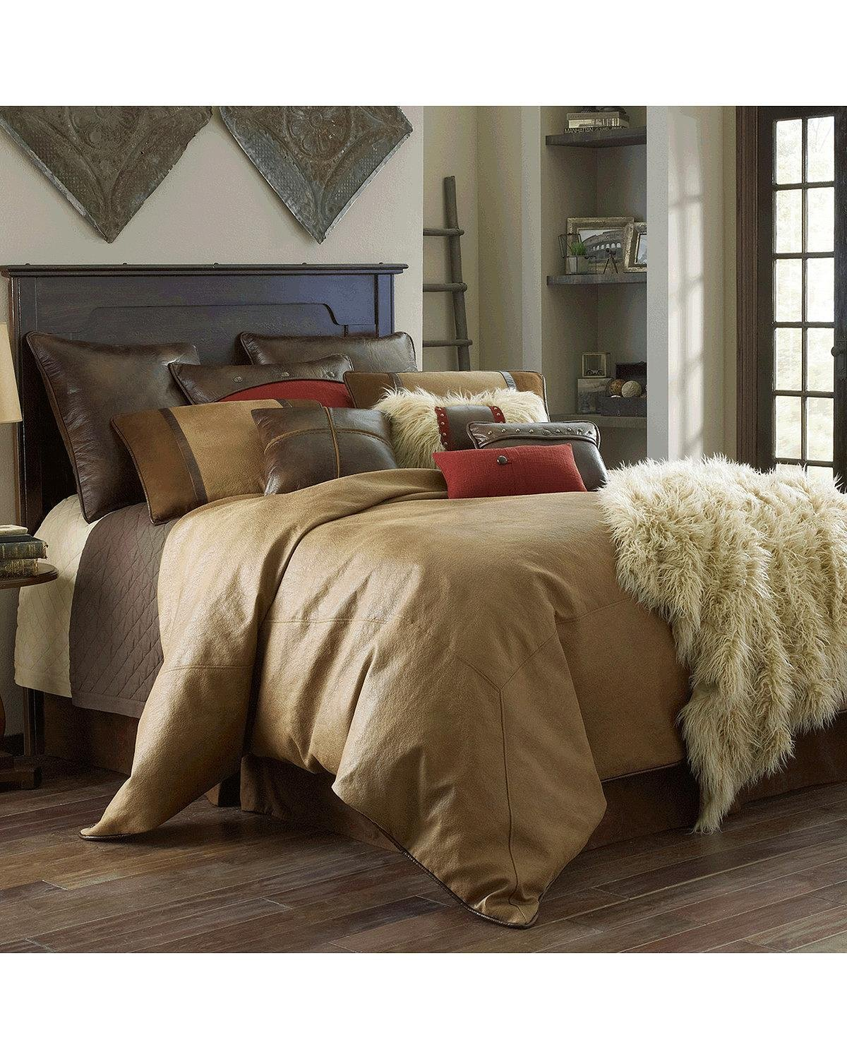 CDM product Hiend Accents Unisex Brighton Super King 4-Piece Bedding Set Tan One Size small thumbnail image