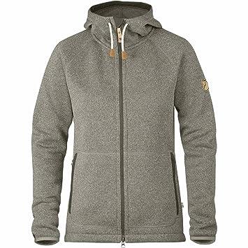 Fjällräven Damen Övik Fleece Hoodie W Pullover   Sweatshirt, Grau (Fog), ... 0023b78ac2