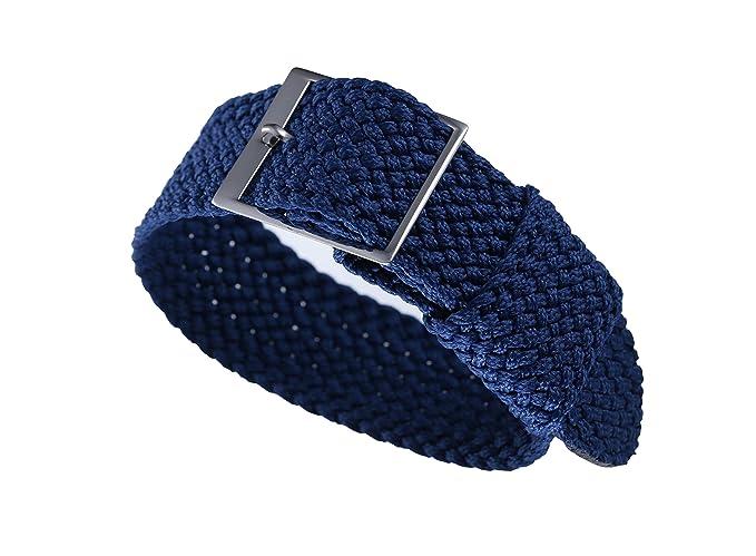 20mm azul de gama alta blandos estilo de la OTAN balísticos correas de reloj de perlón nylon correas delicadas reemplazos para los hombres relojes de lujo ...