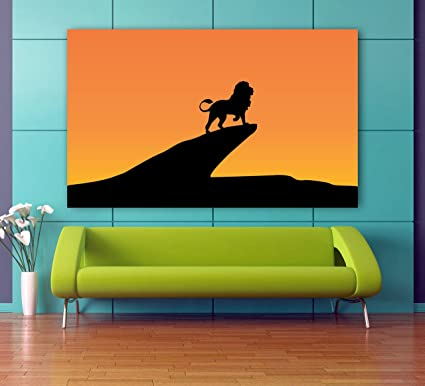 Buy Total Home Lion King Silhouette Minimal Poster No Framed Large Painting On Canvas Wall Art Picture For Home Decoration Wall Decor Poster Online At Low Prices In India Amazon In