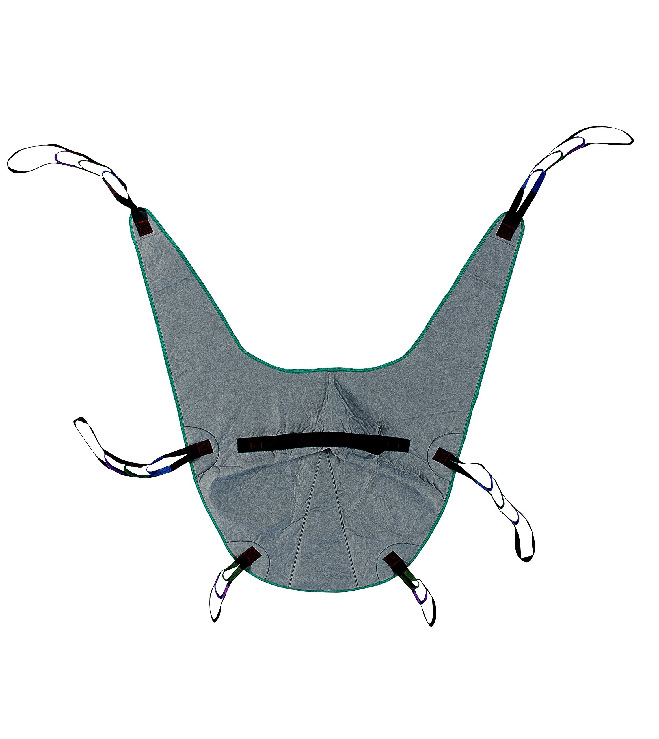 Divided Leg Padded Patient Lift Universal Sling with Head Support, Size Medium, 450lb Capacity