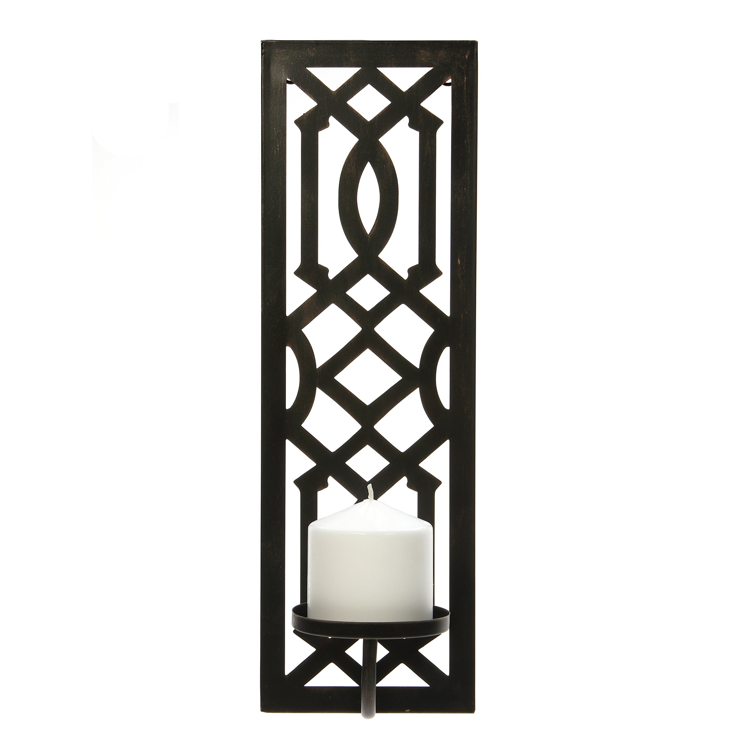 Hosley 16.5'' High Oil Bronze Finish Metal Wall Sconce. Great Wall Decor Ideal Gift for Wedding, Party, Spa, Home Decor O5
