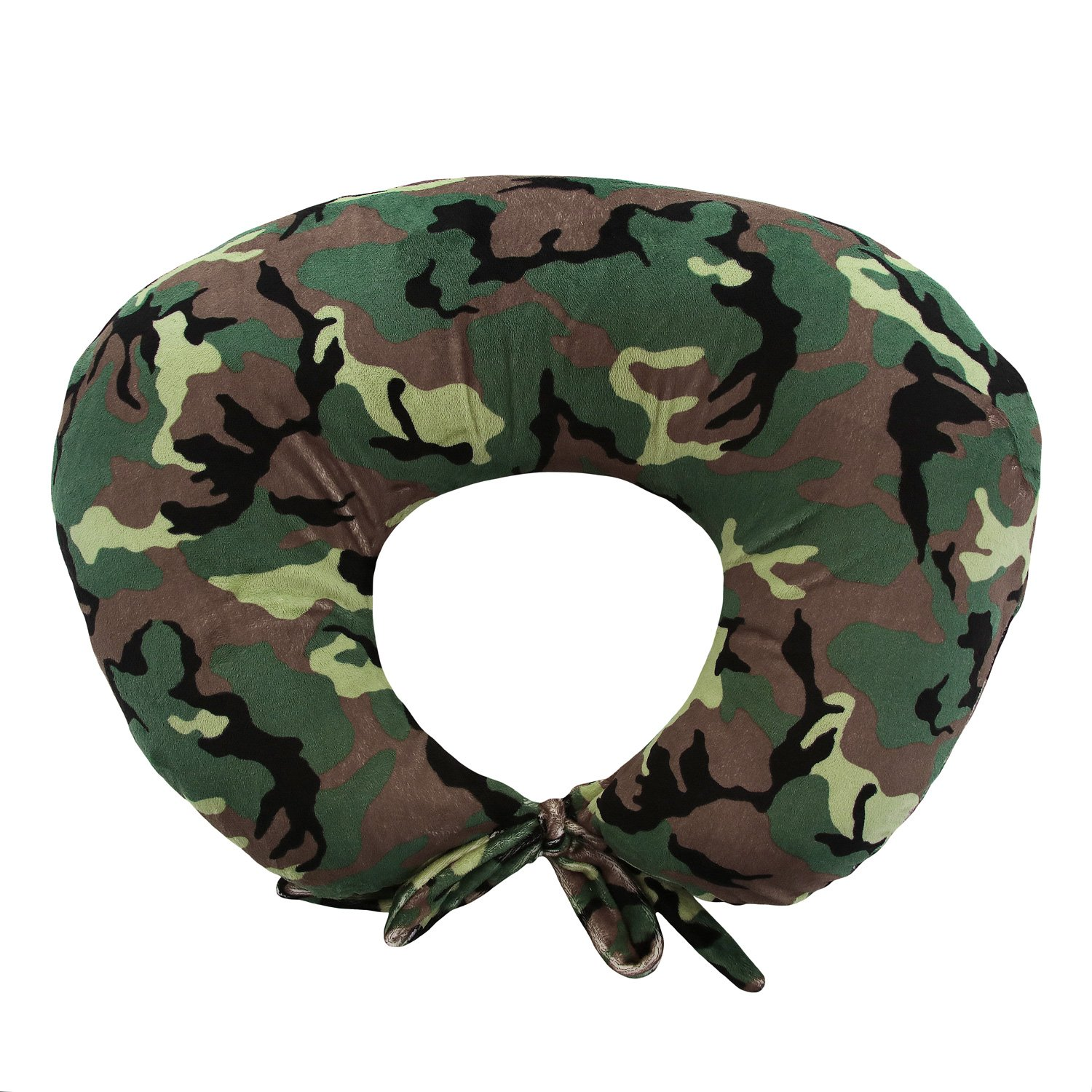 My Blankee Nursing Pillow with Camouflage Minky Slipcover, Army, Small/Medium