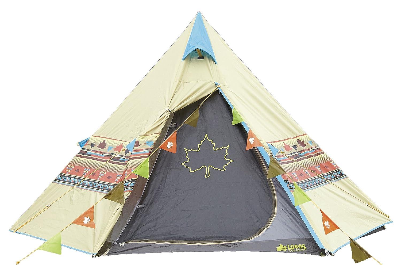 ロゴス テント Tepee ナバホ セット 雨の浸みこみ防止 UVカット加工 撥水加工 フェス・ツーリング向き
