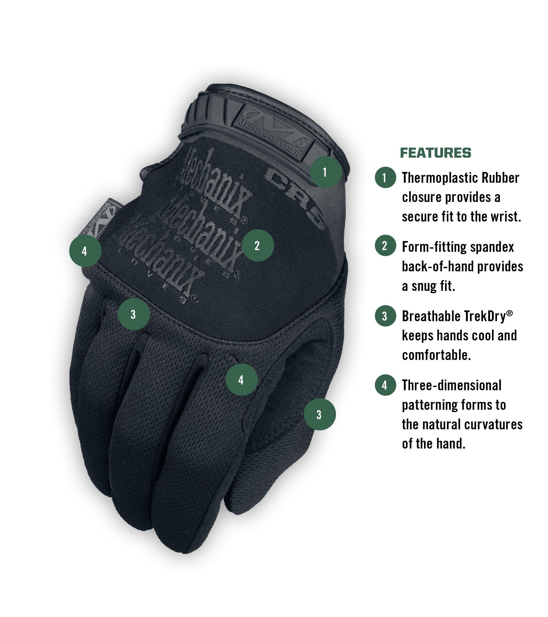 Mechanix Wear - Tactical Specialty Pursuit CR5 Cut Resistant Gloves (Large, Black) by Mechanix Wear (Image #2)