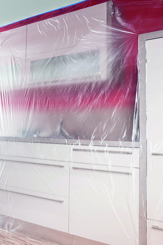 Gr/ö/ße 0,6 x 27,4 m S ScotchBlue 2090FRS Abdeckfolie mit Malerband Malerkrepp